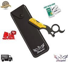 Barber Salon Cut Throat Straight Razor Shaving Razor Knife Edge with Free Blades