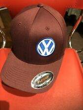 VW VOLKSWAGEN EMBROIDERY HAT FLEXFIT MAROON L/XL