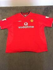 Manchester United Centenary Home Shirt 2001-2002 Size XXL