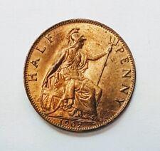More details for 1902 edward v11 half penny coin excellent coin  full lustre unc