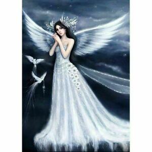 Full Drill 5D Angel Girl Diamond Painting DIY Cross Stitch Wall Decor Kit Art UK