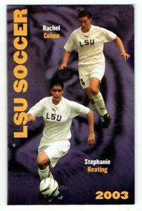 LOUISIANA STATE TIGERS ~ 2003 Womens Soccer Pocket Schedule ~ FREE SHIP
