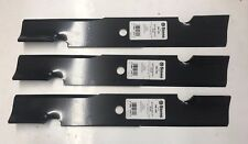 """Qty- 3 16-1/2"""" Stens 340-109 Notched Air-Lift Blades for 32"""" or 48"""" Decks"""