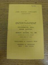 17/10/1949 Theatre Programme: Kings Norton Community Association presents, The H