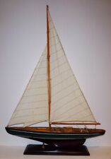 FINE ANTIQUE SHIP MODEL - GOOD DETAIL WORK - FAMOUS ARTIST'S COLLECTION
