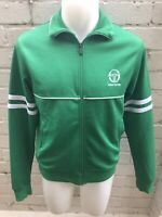 VINTAGE SERGIO TACCHINI Track Top Retro 80's Casual Jacket SMALL Green White