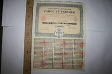 COMPAÑIA GENERAL DE MINAS DE THAKHEK (LAOS-INDOCHINA) 1928 MBC, MUY RAR VER FOTO