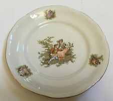 CHODZIEZ POLAND China #6 ROMANCE Embossed Plate Gilded Rococo Scenes Couples