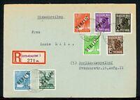 Berlin MiNr. 1, 2, 3, 4, 6, 7, 8 Mischfrankatur auf R-Brief gelaufen (K403