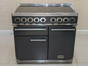 FALCON DELUXE 100CM INDUCTION ALL ELECTRIC RANGE COOKER IN SLATE  A684