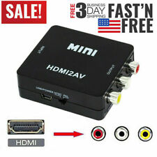 HDMI To RCA AV Adapter Converter Cable CVBS 3RCA 1080P Composite Video Audio /US