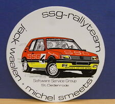 1x Sticker - decal Peugeot SSG Rallyteam with org.back 80/90's (02110)