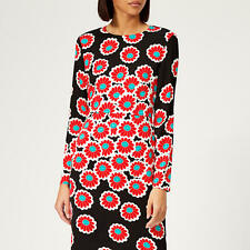 DIANE VON FURSTENBERG DVF Soluck Kimono Blossom Black Floral Dress