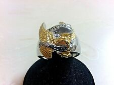 "USA EAGLE ""LIVE TO RIDE"" STAINLESS STEEL MEN'S RING"