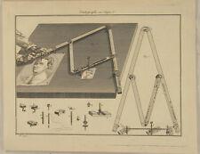 PANTOGRAF Zeichenmaschine Original Kupferstich um1770 Kunst Hilfsmittel zeichnen