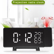 Projection Digital Weather Snooze Alarm Clock FM Radio LED Backlight 2-USB Ports