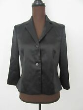 BCBG Maxazria Jacket Black Polyester Blend Sheen Fabric Size 6