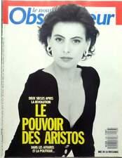 Nouvel Observateur 1988: INES DE LA FRESSANGE_Antoine DE CAUNES_FANNY COTTENCON