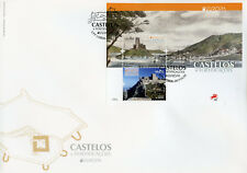 Portugal 2017 FDC Castles Europa Almourol Castle 2v MS Cover Architecture Stamps