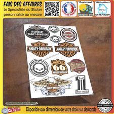11 stickers autocollant harley davidson sportster iron réservoir casque route 66