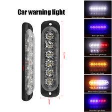 10x LED Strobe Light Flash Flashing Car Truck Warning Lamp White Red Blue Amber