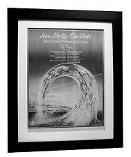 JOHN MARTYN+One World+TOUR+POSTER+AD+FRAMED+RARE ORIGINAL 1977+FAST GLOBAL SHIP