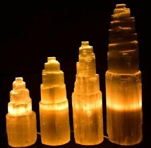 High Quality Selenite Crystal Mountain Lamp 15/20/25/30/40cm✔ Free P&P UKBUY✔ 33