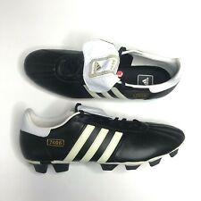 on sale d7c42 d4d32 Adidas 7406 807938 Black White Mens Classic Soccer Shoes Size US 13