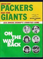 Green Bay Packers vs New York Giants 1976 16th Annual Bishops football program