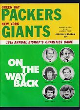 Green Bay Packers vs New York Giants 1976 16th Annual Bishops football program