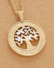 "Colombia Pendant & Necklace Colombian Handcut Coin 7/8"" Diameter ( # 868 )"