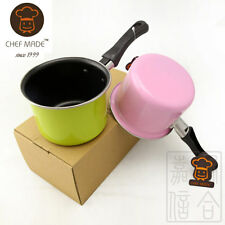 Steel Milk Pot  500ML 1 cup Colorful  Sauce Pan Boiler Non-Stick Coating