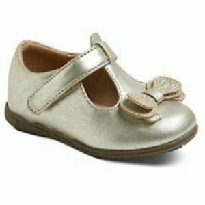 NWT Girls T-Strap Shoes Genuine Kids OshKosh Aimee Gold 2