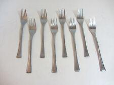 "DALIA 18/10 Spain Stainless Flatware (8) GUERNICA Satin Salad Forks - 7 1/2"""