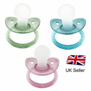 Coloured Glitter Adult Pacifier Box Teat - Dummy Soother for Adult Fetish Baby