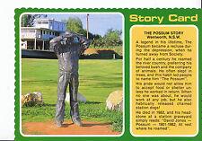 "Australia Postcard - ""Possum's"" Statue  - Wentworth - New South Wales  AB1866"