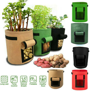 Plant Grow Bags Home Garden Potato Pot Greenhouse Vegetable Growing Moisturizing