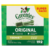 Greenies Teenie Dental Dog Treats. Teenie size. Various pack