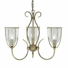 Searchlight 6353-3AB Silhouette 3 Light Antique Brass Ceiling Pendant Fitting