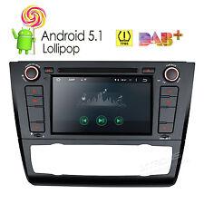 """Android 5.1 Car DVD Stereo 1 DIN 7"""" Radio GPS OBD2 DAB+ For BMW E81 E82 E88 1er"""