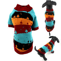 Pet Puppy Dog Clothes Sweater Christmas Tree Pattern Winter Cat And Dog Clothes