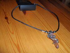 *NEW* Purple Gemstone Dragon on Black Cord Necklace Costume Jewellery