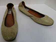 08e0b756fe3b LANVIN tan faux snakeskin embossed leather slip-on ballet flats sz 10