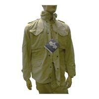 Stonewashed Alpha Industries M65 M-65 Field Military Jacket/Coat, Khaki, US Made