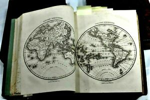 1834 Malte-Brun System Of Universal Geography 3 Volumes w/ Maps & Engravings