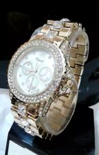 Elegant Gold Crystal Rhinestone Xanadu Wrist Bracelet Link Band Watch