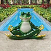 Strike A Pose Zen Yoga Design Toscano Exclusive Hand Painted Frog Statue