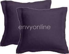 2 x 1000TC EGYPTIAN COTTON European Pillowcases Cushion cover 65x65cm- Grape