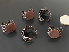 ¡OFERTA 2x1! De 5 a 75 Bases anillos bronces 8mm (BASE-35) anillo metal bronce