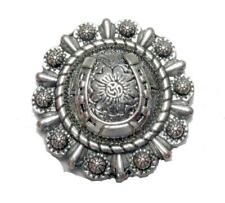 Conchos Set of 4 LUCKY HORSESHOE Rodeo Cowgirl Bling Hat
